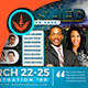 Prophecy Unleashed Conference Flyer Template - GraphicRiver Item for Sale