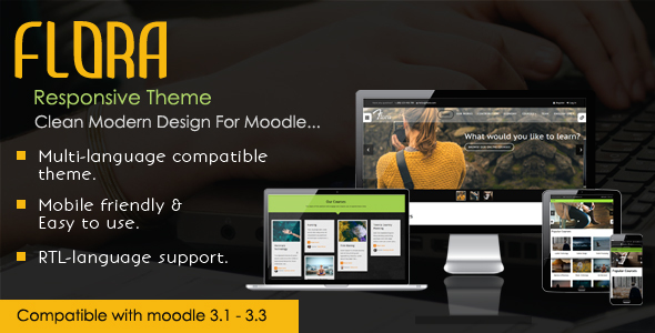 Flora – Responsive Moodle Theme nulled