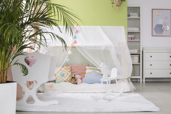 Sleeping place for baby - Stock Photo - Images