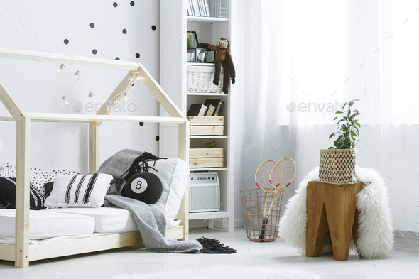 White room with furniture - Stock Photo - Images