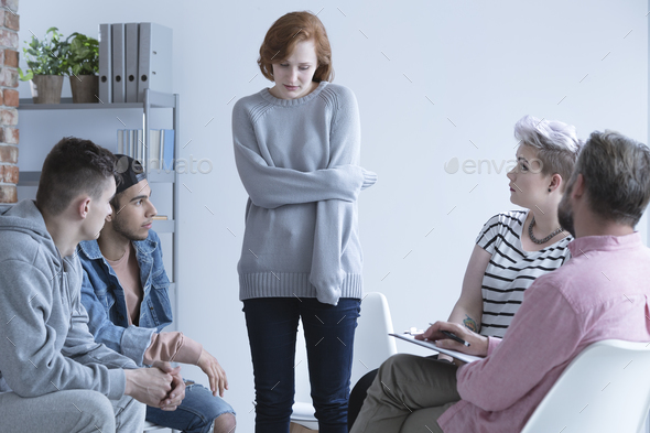 Woman with mental problem - Stock Photo - Images