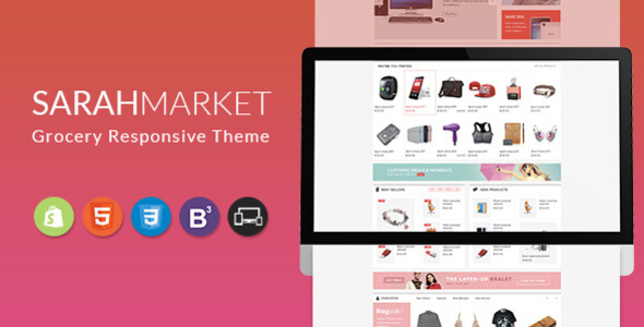 Sarah Market – Sectioned Responsive Shopify Theme for Supermarket, Large store, Groceries, Aliexpres
