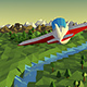 Low Poly Landscape With Airplane - VideoHive Item for Sale