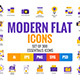 Big Collection of Flat Modern Color Design Icons - GraphicRiver Item for Sale