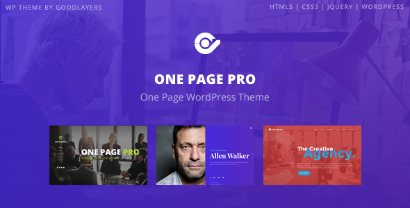 One Page Pro - Multipurpose WordPress - introduction