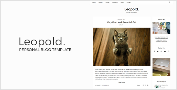 Leopold - Personal Blog Template