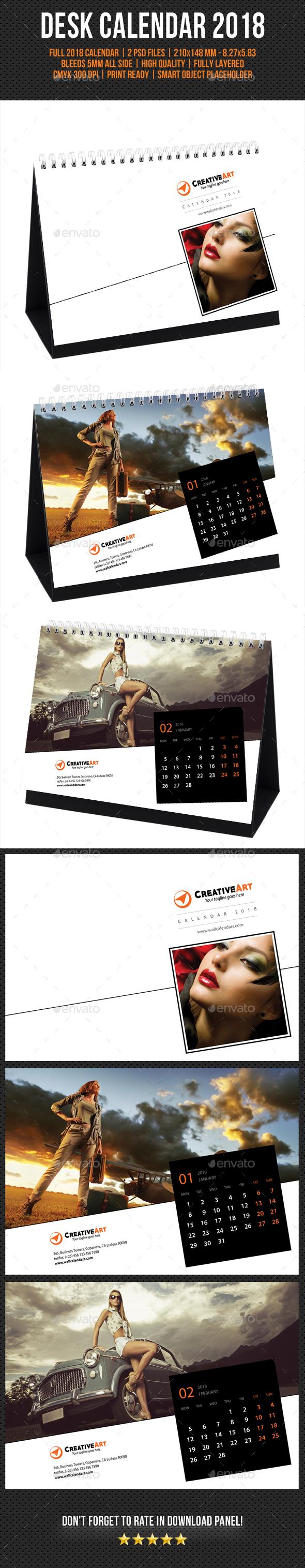 Creative Desk Calendar 2018 V17 - Calendars Stationery