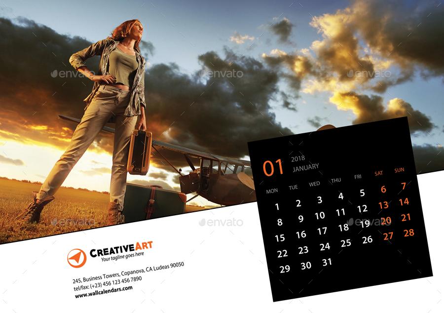 Creative Digital Calendar creative desk calendar 2018 v17rapidgraf | graphicriver