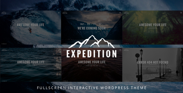 Expedition Fullscreen Interactive WordPress Theme - Photography Creative