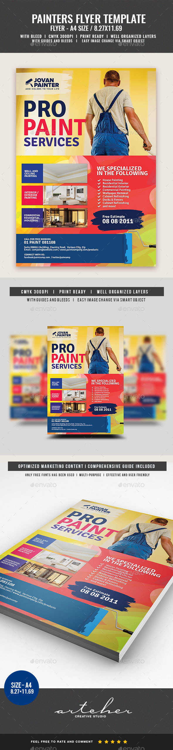 Paint Painting Services - Corporate Flyers