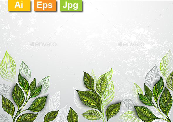 Background with Tea Plants - Backgrounds Decorative
