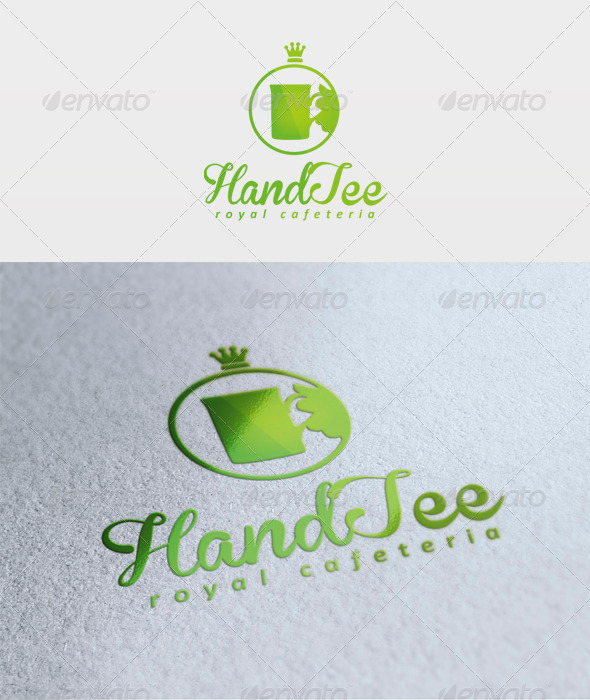 Hand Tee Logo - Food Logo Templates