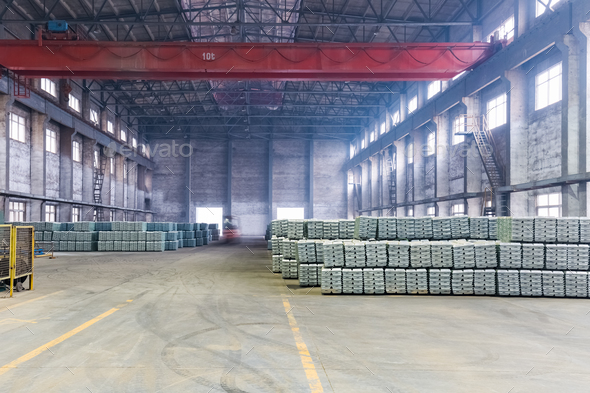 industrial finished products warehouse - Stock Photo - Images