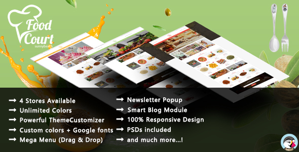 Organic Food – Responsive Prestashop Theme