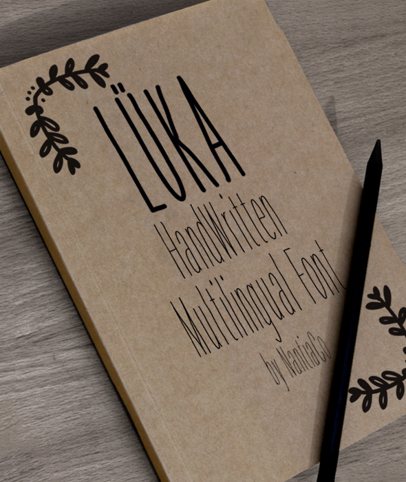 LÜKA HandWritten Multilingual Font - Hand-writing Script