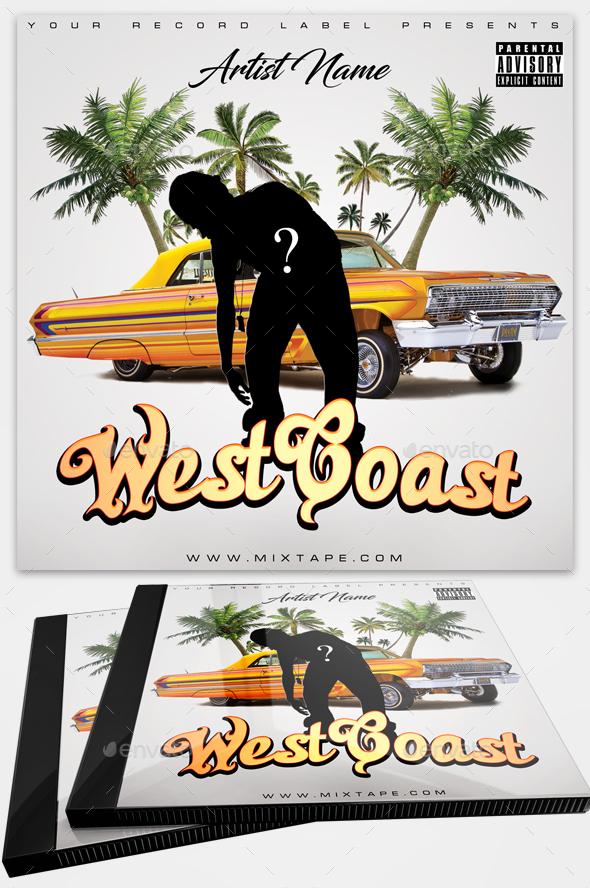 Album Cover Art - Hip Hop Mixtapes - Westcoast - CD & DVD Artwork Print Templates