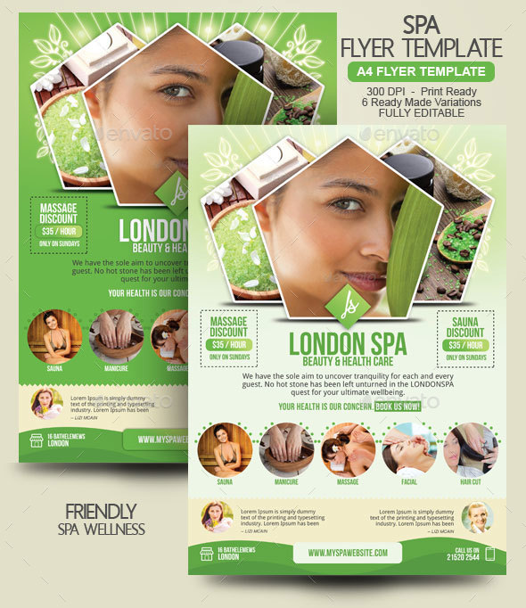 spa flyer template by blogankids graphicriver