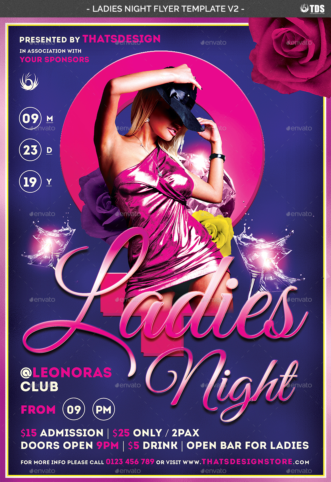 ladies night flyer template v2 by noryach