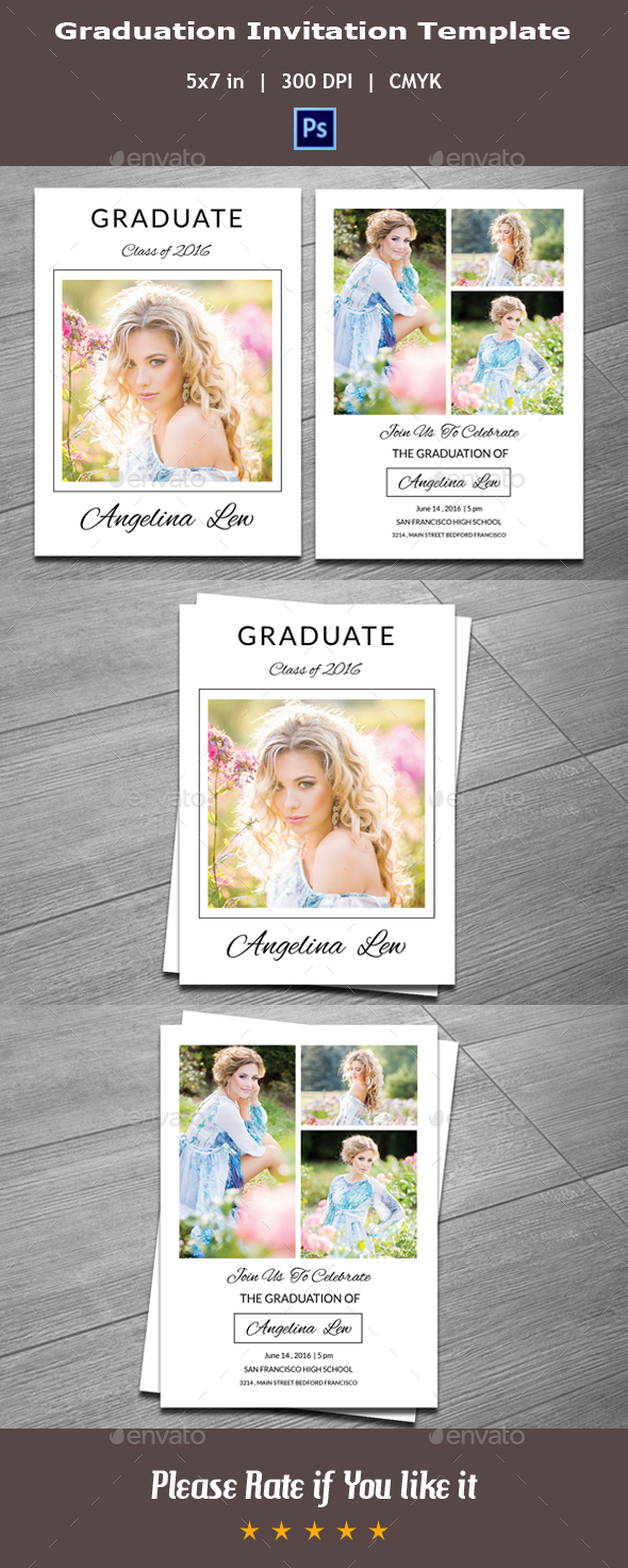 Graduation Invitation Template V06 - Invitations Cards & Invites