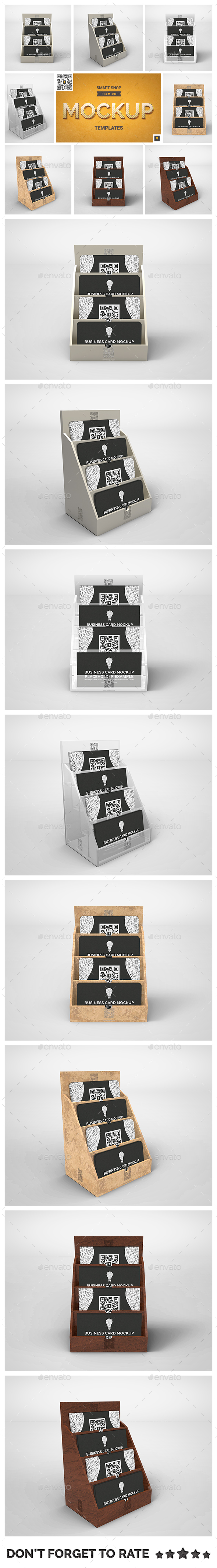 Business Card Holder Mockup Set - Miscellaneous Print