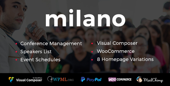 Milano - Conference & Event WordPress Theme - Events Entertainment