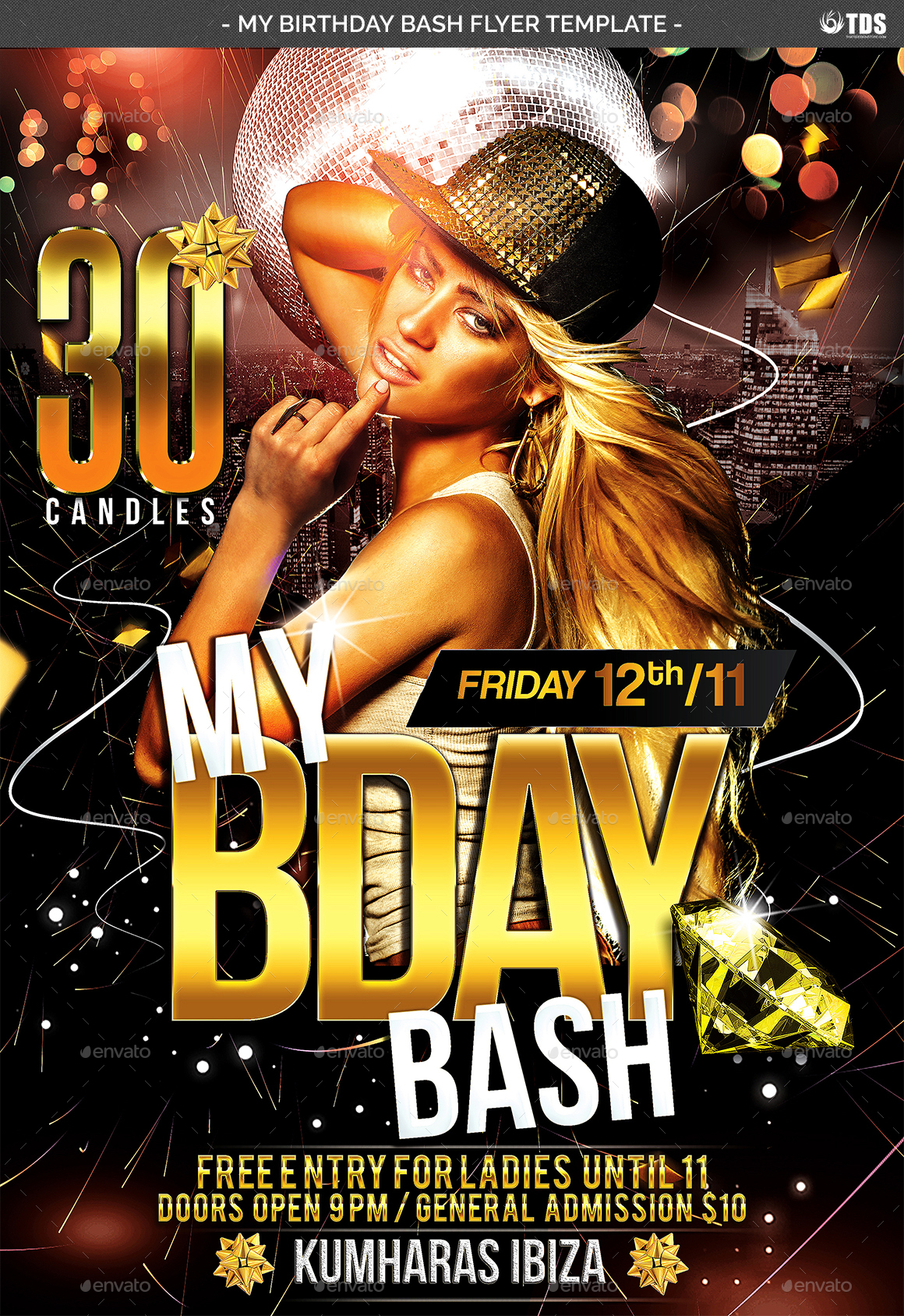 my birthday bash flyer template by noryach