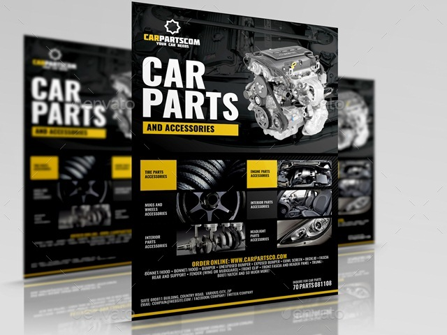 Car Parts and Accessories Flyer by Artchery – Car Flyer