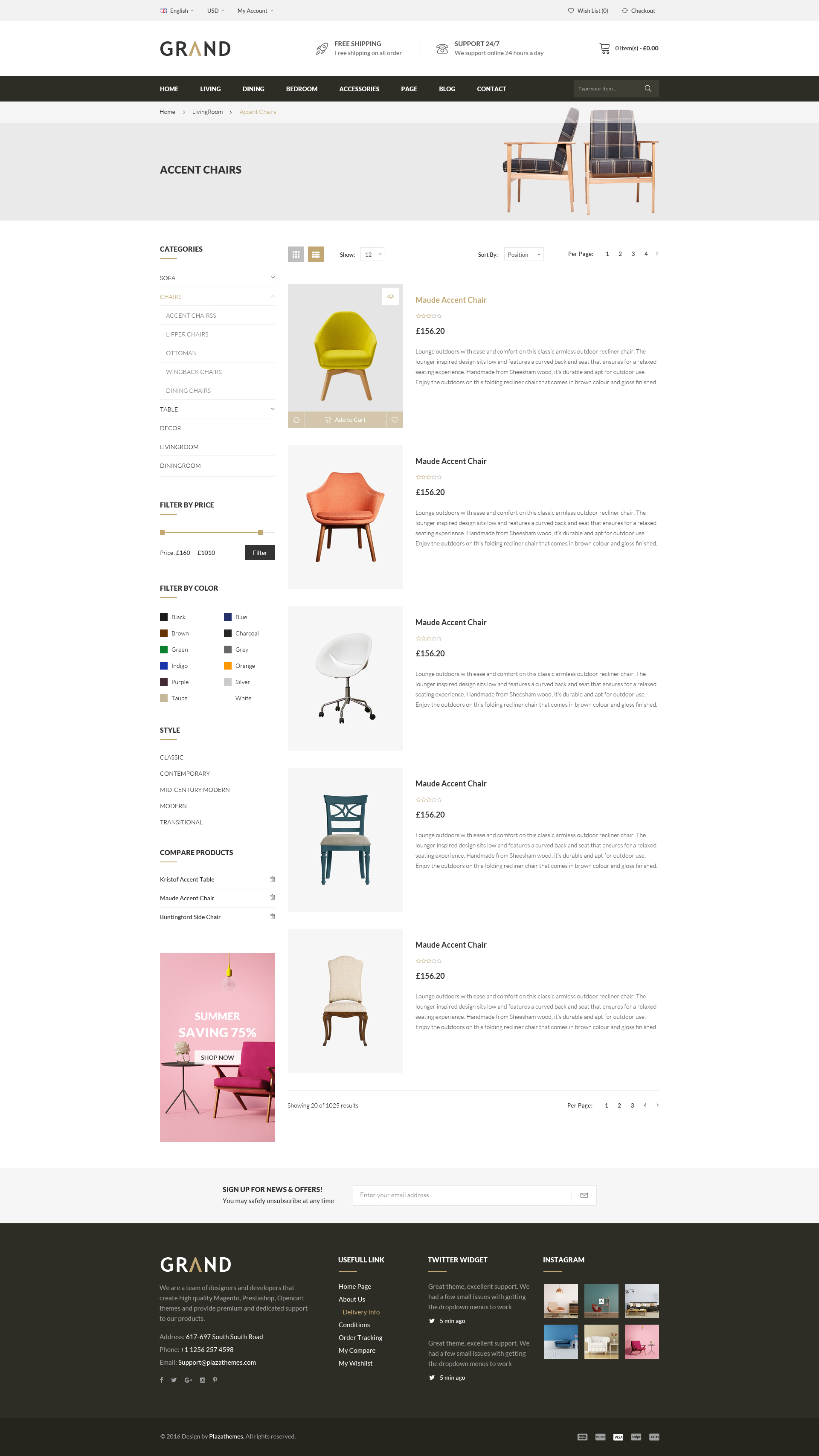 Grand Furniture Shopify Theme by masstechnologist