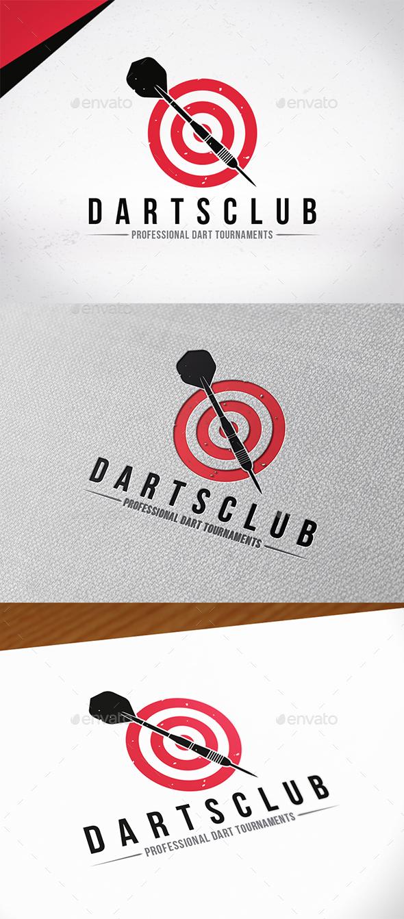 Darts Club Logo Template - Sports Logo Templates