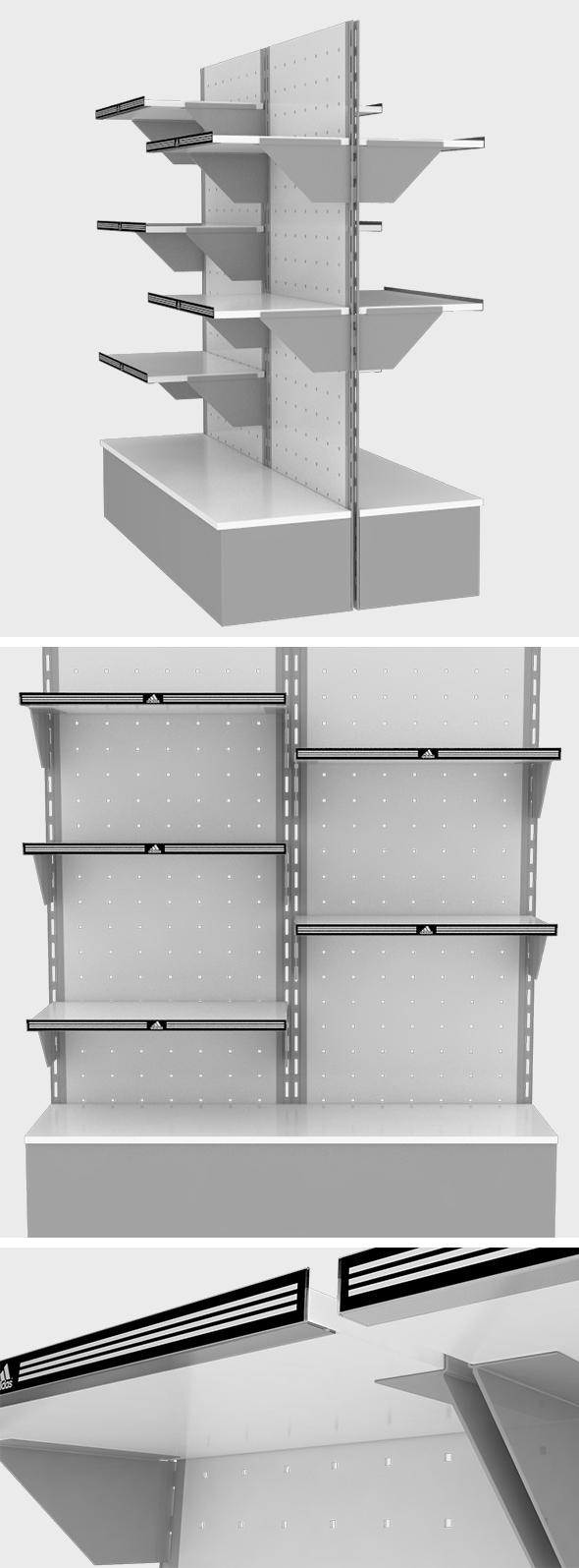 Modular Shop Shelving Unit - 3DOcean Item for Sale