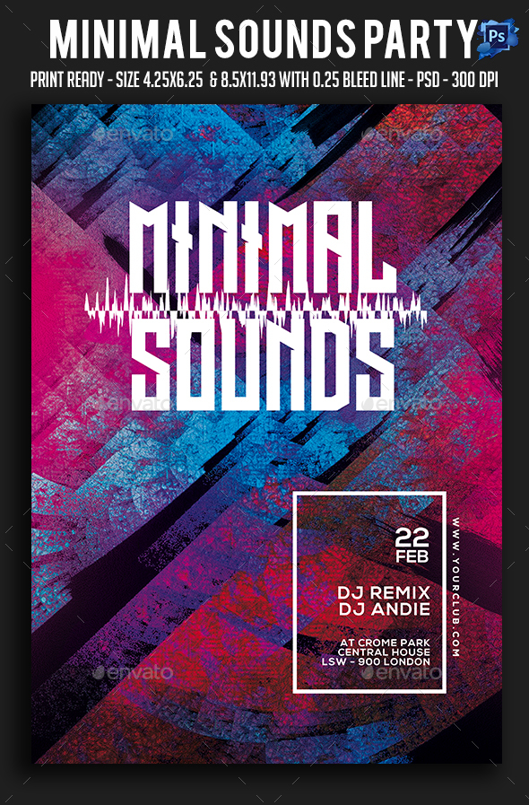 Minimal Sounds Party Flyer - Clubs & Parties Events