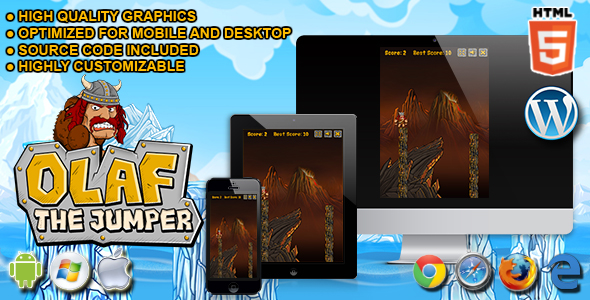 Olaf the Jumper - HTML5 Skill Game - CodeCanyon Item for Sale