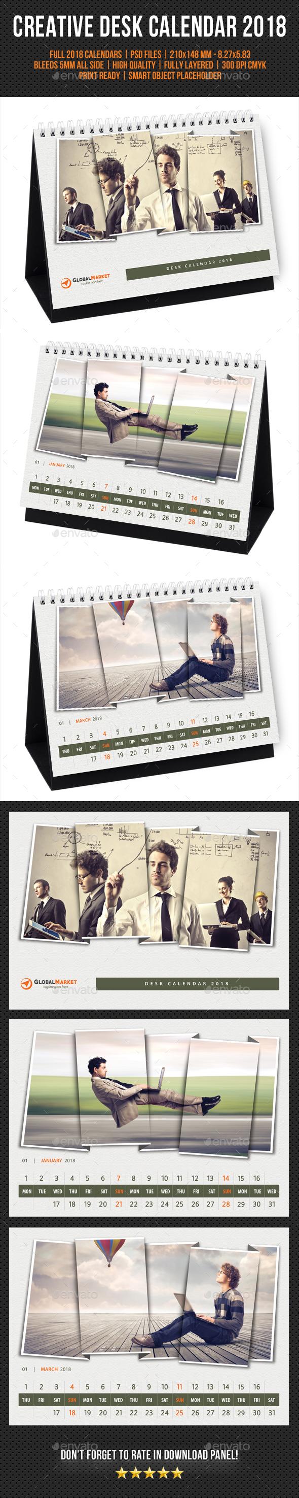 Creative Desk Calendar 2018 V24 - Calendars Stationery