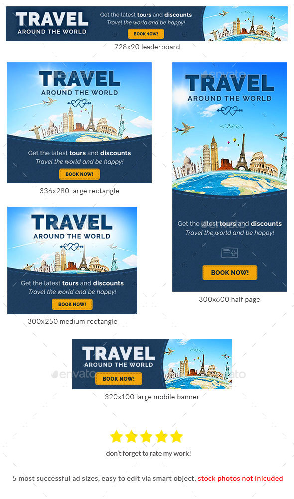 Travel And Leisure Web Banner Psd Template By Admiral_Adictus