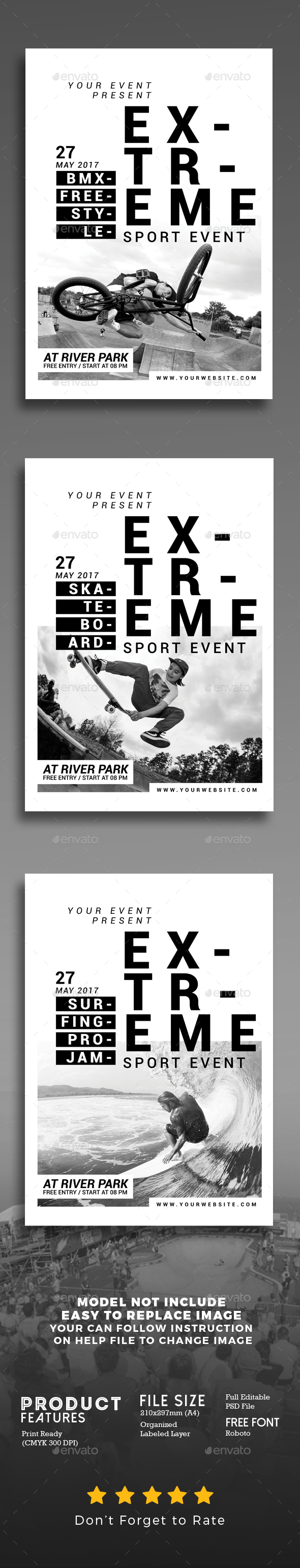 Extreme Sport Event Flyer - Events Flyers