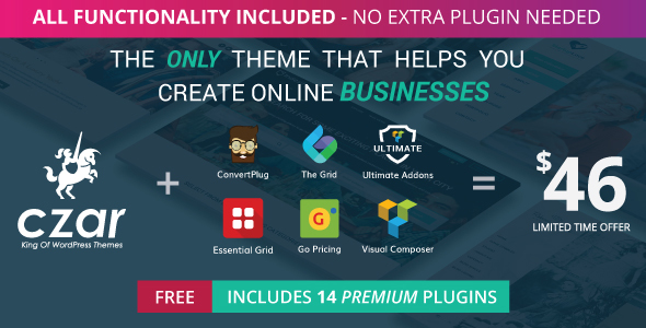 Czar – Directory Listing Multi-purpose Theme