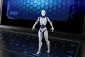 Robot standing on keyboard - PhotoDune Item for Sale