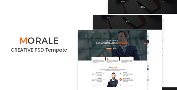 Morale - Creative PSD Template - Business Corporate