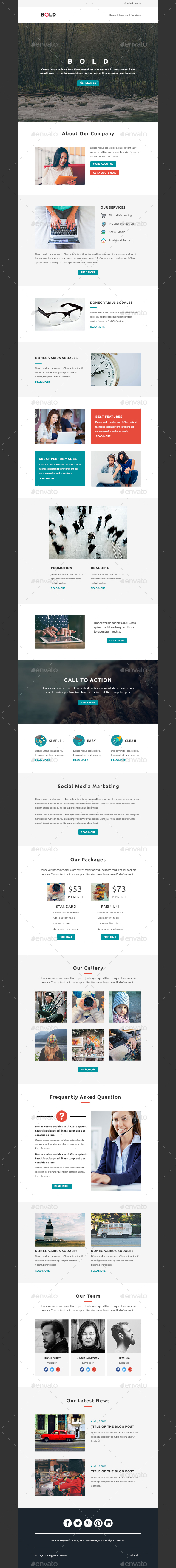 BOLD - Multipurpose Email PSD Template - E-newsletters Web Elements