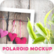 Polaroid Photos Mockup with a Two Paper Types - GraphicRiver Item for Sale