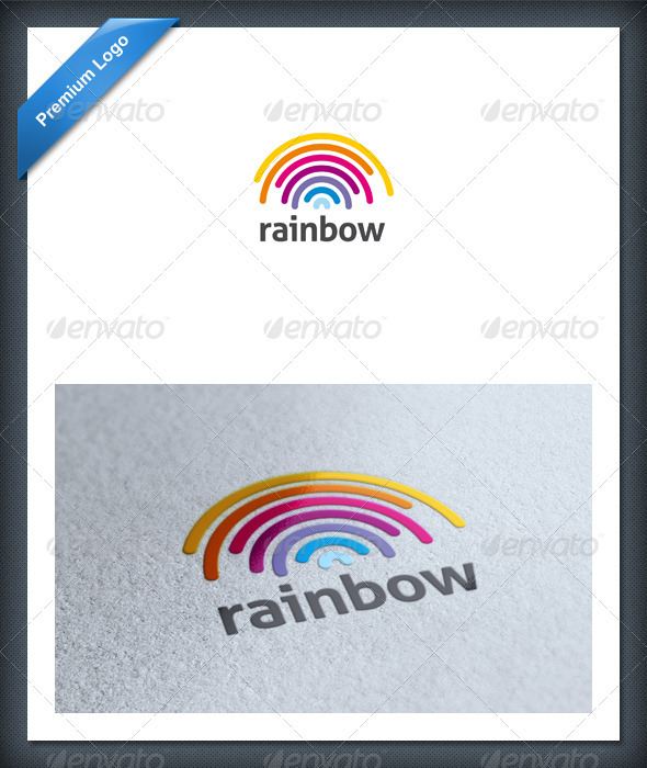 Rainbow Logo Template - Abstract Logo Templates