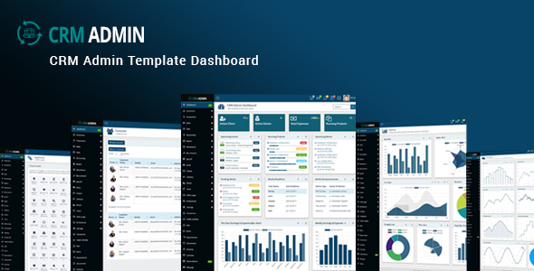 Image of CRM Admin - Bootstrap CRM Admin Template Dashboard