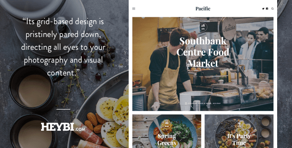 Pacific: Big Bold Photo-Based Theme - Blogger Blogging