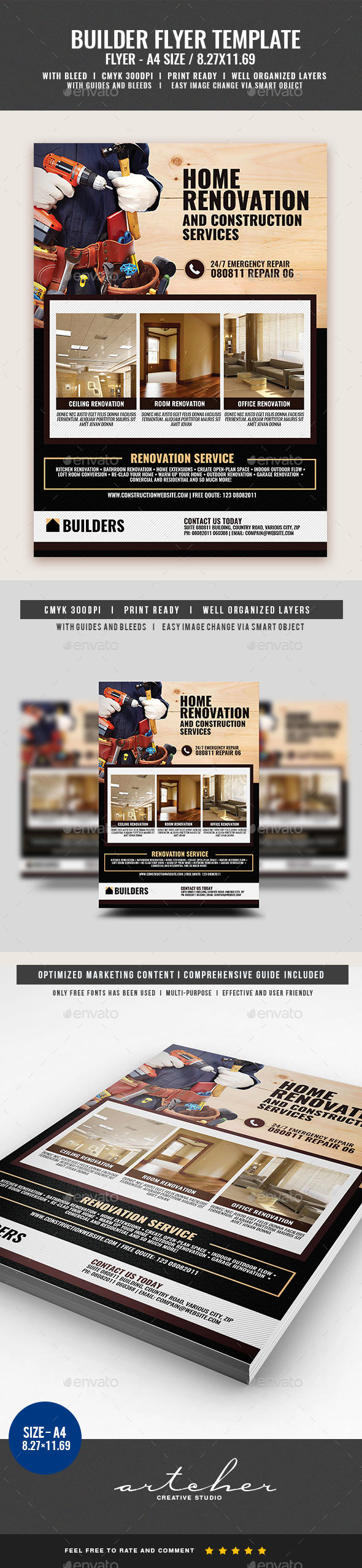 Carpentry and Building Services - Corporate Flyers