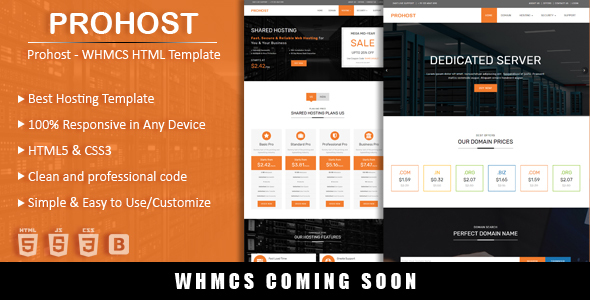 Prohost Hosting HTML Template