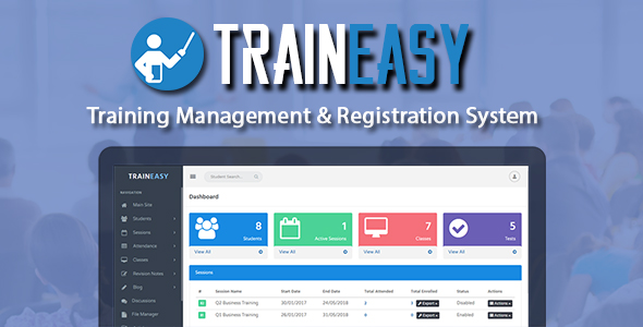 TrainEasy - Training Management & Registration System - CodeCanyon Item for Sale