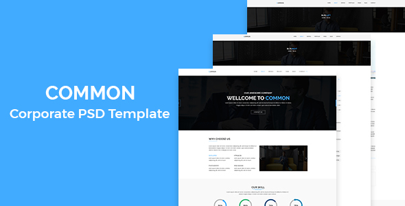 Common – Corporate PSD Template