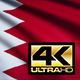 Flag 4K Bahrain On Realistic Looping Animation With Highly Detailed Fabric - VideoHive Item for Sale