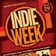 Indie Week Concert Event Flyer