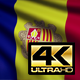 Flag 4K Andorra On Realistic Looping Animation With Highly Detailed Fabric - VideoHive Item for Sale